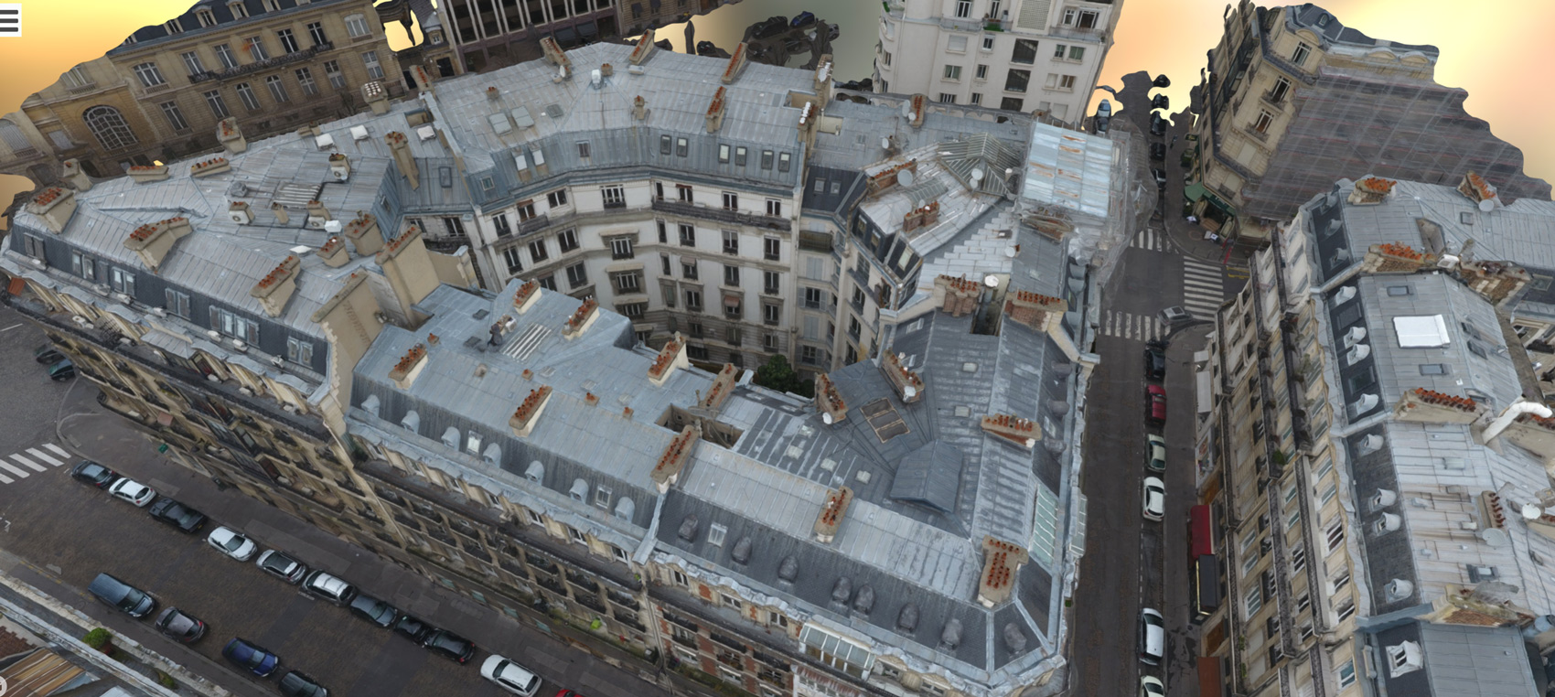 Roof survey of a Paris building